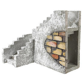 Corner staircase for Neapolitan Nativity Scene of 8 cm s2