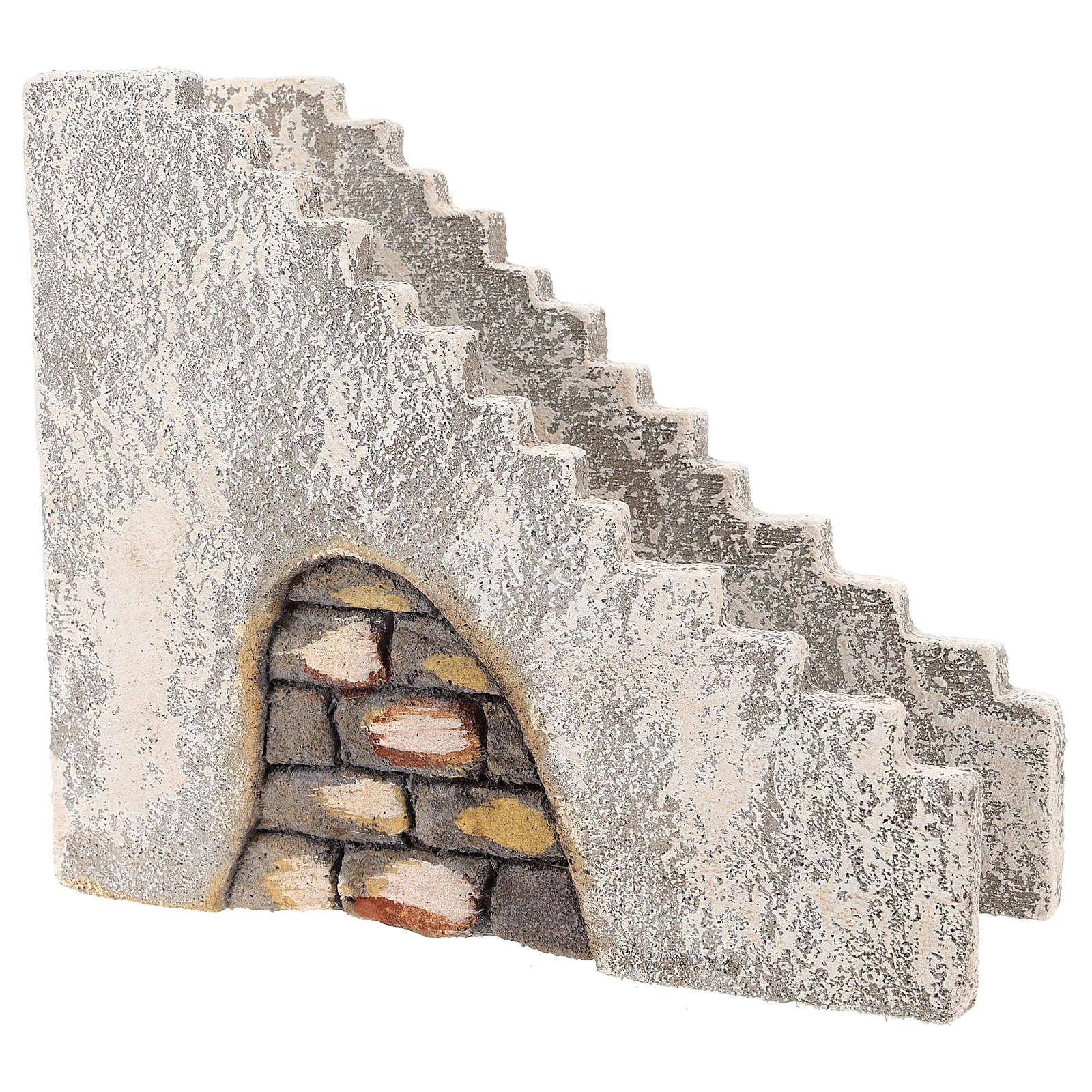 Staircase for Neapolitan Nativity Scene of 10 cm 4