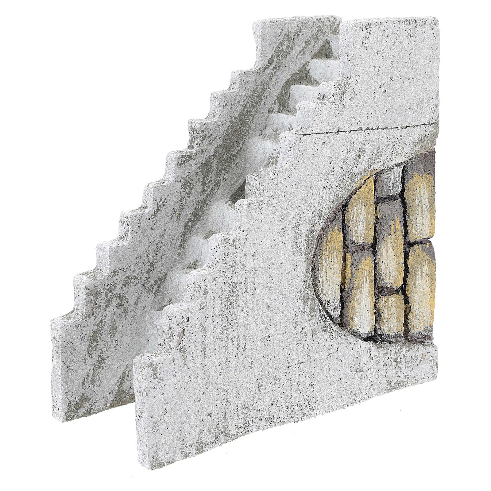 Straight staircase for Neapolitan Nativity scene of 8 cm 4