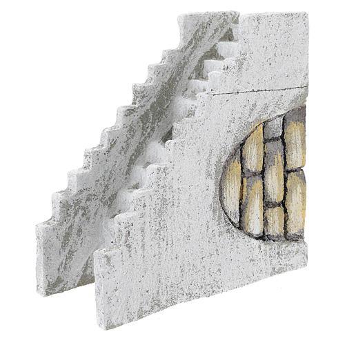 Escalera recta para belén napolitano de 8 cm 2