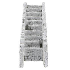 Escada reta para presépio napolitano com figuras de 8 cm de altura média s1