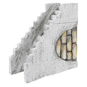 Escada reta para presépio napolitano com figuras de 8 cm de altura média s2