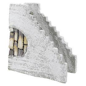 Escada reta para presépio napolitano com figuras de 8 cm de altura média s3