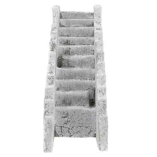 Escada reta para presépio napolitano com figuras de 8 cm de altura média 1