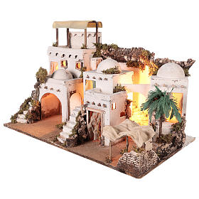 Arab-style village with curtain for 10-12 cm Neapolitan Nativity scene s4