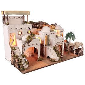 Pueblo en estilo árabe con cortina para belén napolitano de 10-12 cm s5