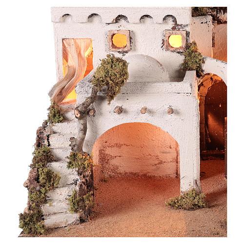 Pueblo en estilo árabe con cortina para belén napolitano de 10-12 cm 3