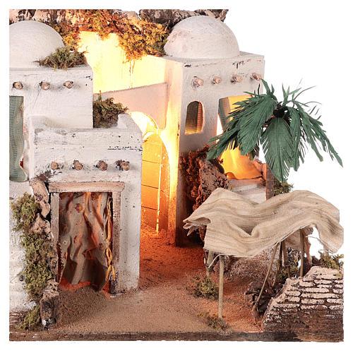 Borgo in stile arabo con tenda per presepe napoletano di 10-12 cm 2