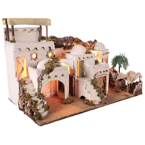 Borgo in stile arabo con tenda per presepe napoletano di 10-12 cm 5