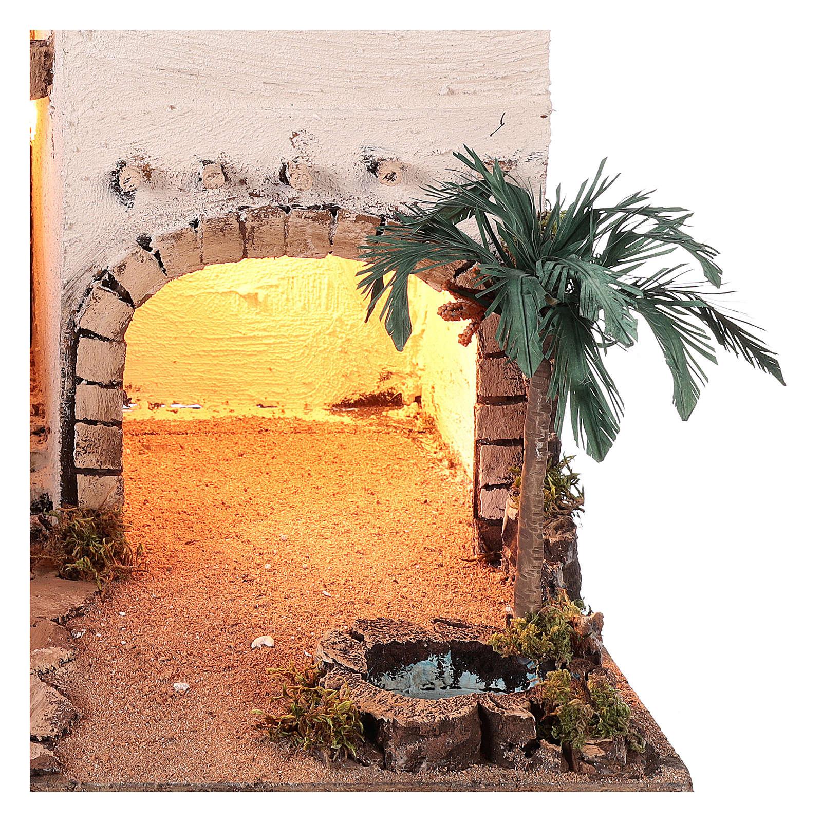 Pueblo en estilo árabe con oasis para belén napolitano de 10 cm 4
