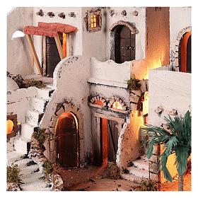 Pueblo en estilo árabe con oasis para belén napolitano de 10 cm s3