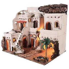 Borgo in stile arabo con oasi per presepe napoletano di 10 cm s4