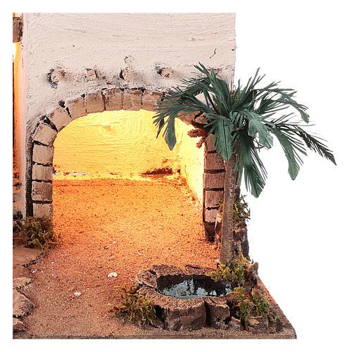Borgo in stile arabo con oasi per presepe napoletano di 10 cm 2