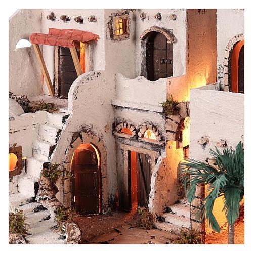 Borgo in stile arabo con oasi per presepe napoletano di 10 cm 3