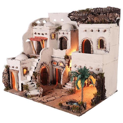 Borgo in stile arabo con oasi per presepe napoletano di 10 cm 4