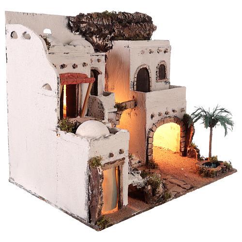 Borgo in stile arabo con oasi per presepe napoletano di 10 cm 5