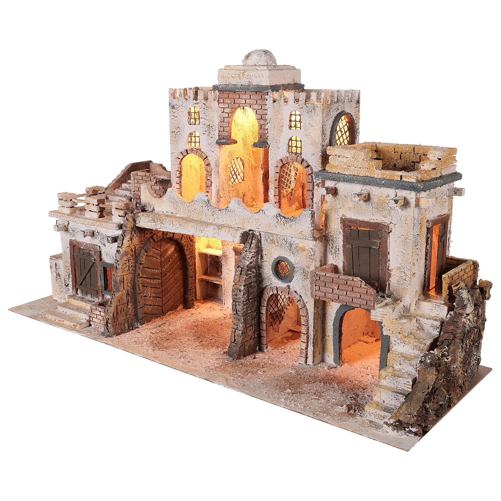 Arab-style village setting for 8 cm Neapolitan Nativity scene 4