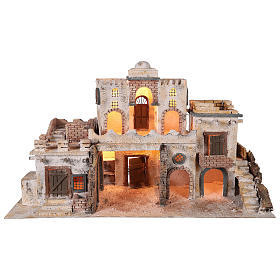 Arab-style village setting for 8 cm Neapolitan Nativity scene s1