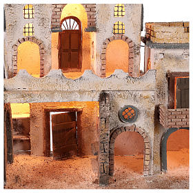 Arab-style village setting for 8 cm Neapolitan Nativity scene s3