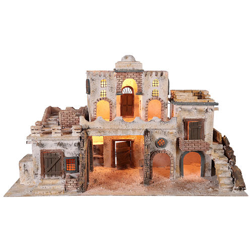 Arab-style village setting for 8 cm Neapolitan Nativity scene 1