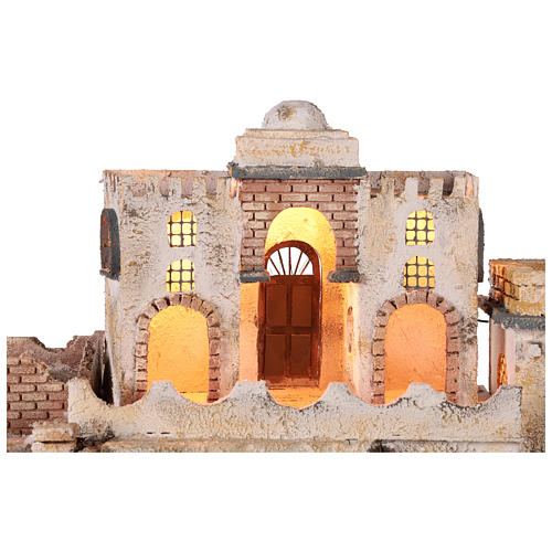 Arab-style village setting for 8 cm Neapolitan Nativity scene 2