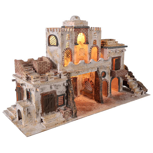 Arab-style village setting for 8 cm Neapolitan Nativity scene 5