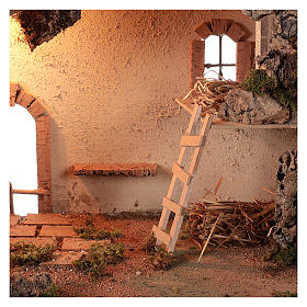 Shack setting for 12-16 cm Neapolitan Nativity scene 55x70x40 cm s2