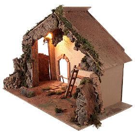 Shack setting for 12-16 cm Neapolitan Nativity scene 55x70x40 cm s3