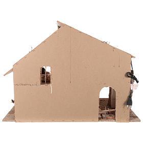 Shack setting for 12-16 cm Neapolitan Nativity scene 55x70x40 cm s5