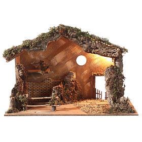 Shack setting for 12-16 cm Neapolitan Nativity scene 55x70x40 cm s1