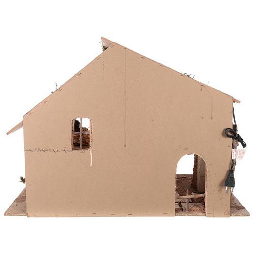 Shack setting for 12-16 cm Neapolitan Nativity scene 55x70x40 cm 5