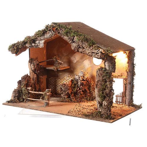Shack setting for 12-16 cm Neapolitan Nativity scene 55x70x40 cm 2