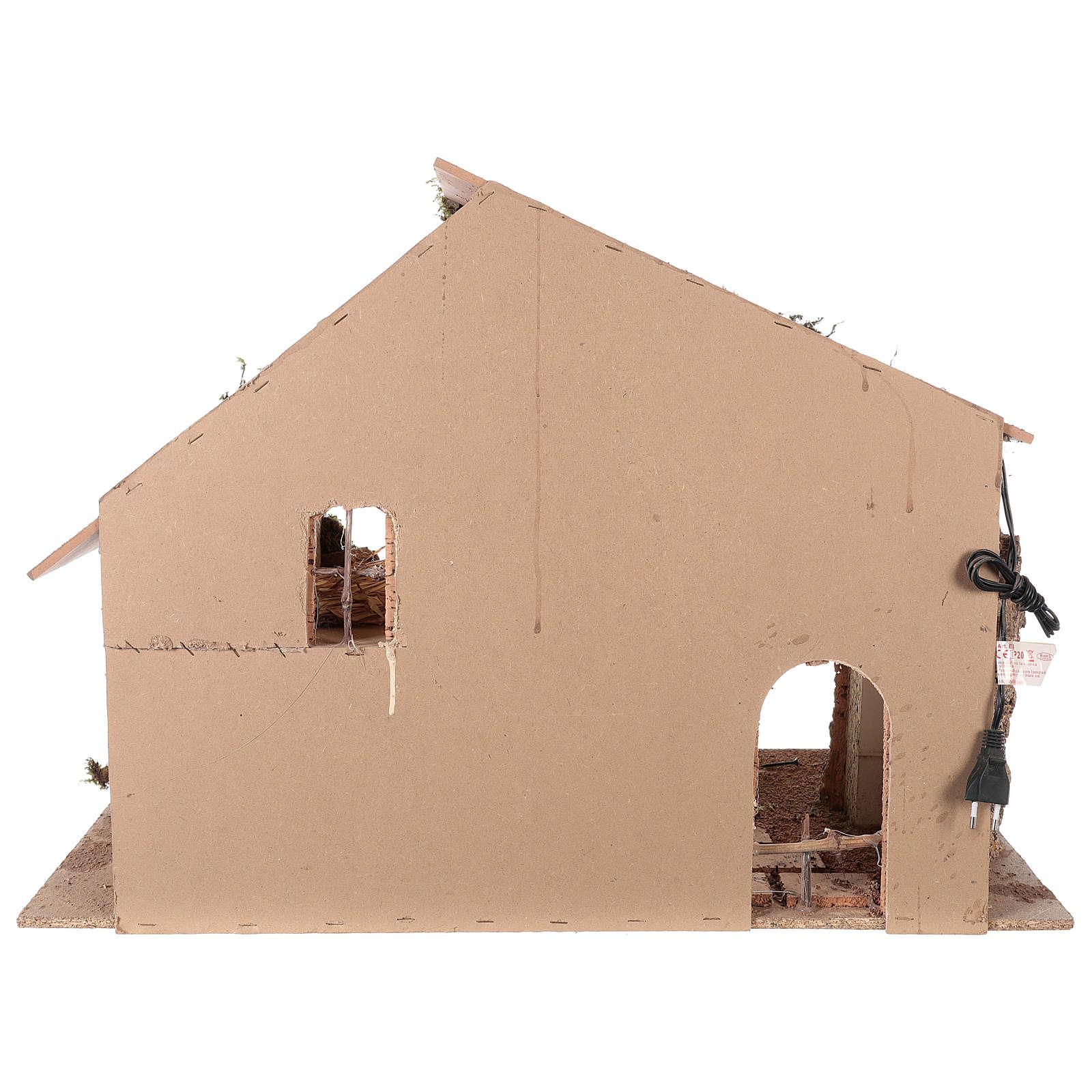 Cabaña 55x70x40 cm para belén napolitano de 12-16 cm 4
