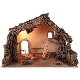 Presépio Napolitano: Cabana 55x70x40 cm para presépio napolitano com figuras de 12-16 cm de altura média