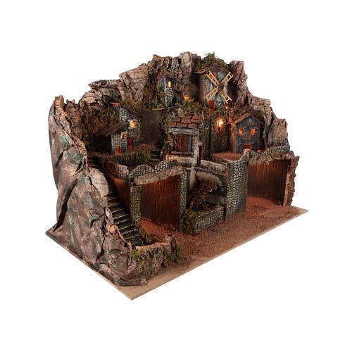 Rustic village setting for 12-16 cm Neapolitan Nativity scene 5