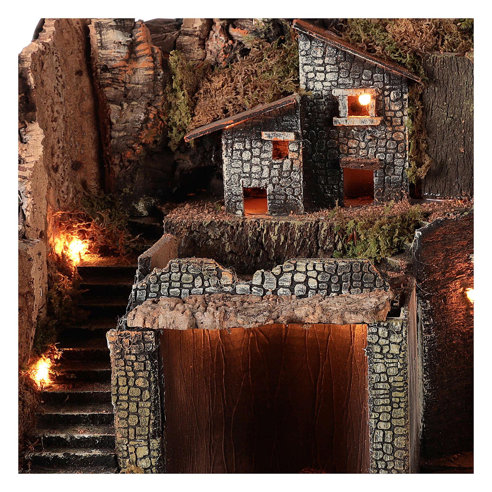 Pueblo estilo rústico para belén napolitano de 12-16 cm 4