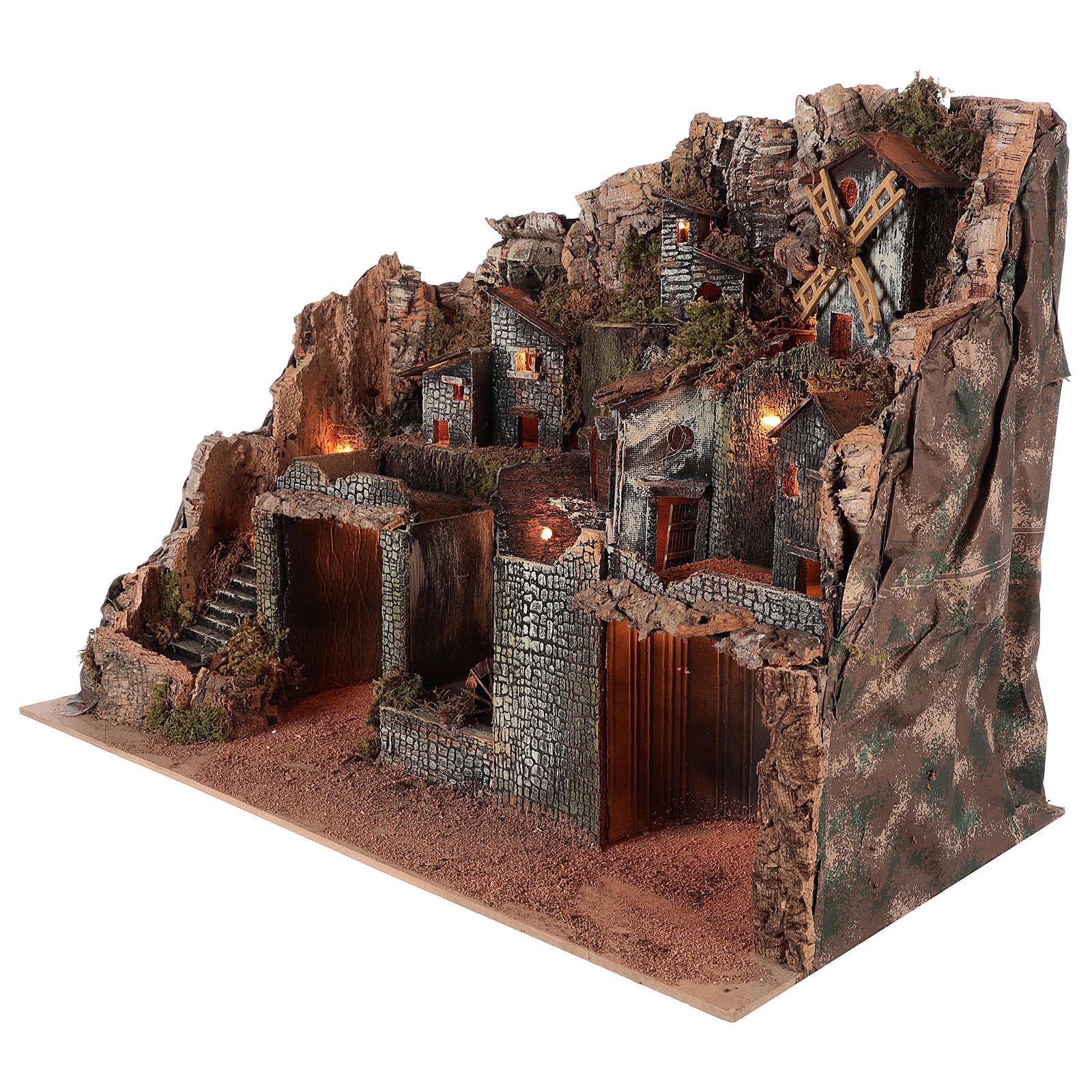 Borgo stile rustico per presepe napoletano di 12-16 cm 4