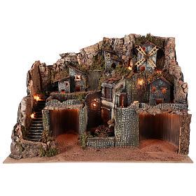 Borgo stile rustico per presepe napoletano di 12-16 cm s1