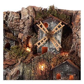 Borgo stile rustico per presepe napoletano di 12-16 cm s2