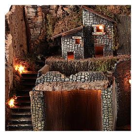 Borgo stile rustico per presepe napoletano di 12-16 cm s3