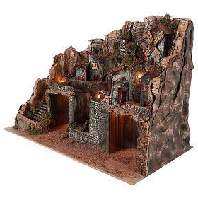 Borgo stile rustico per presepe napoletano di 12-16 cm s4
