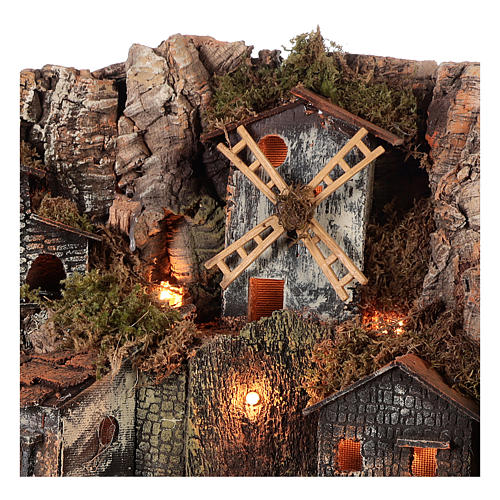 Borgo stile rustico per presepe napoletano di 12-16 cm 2