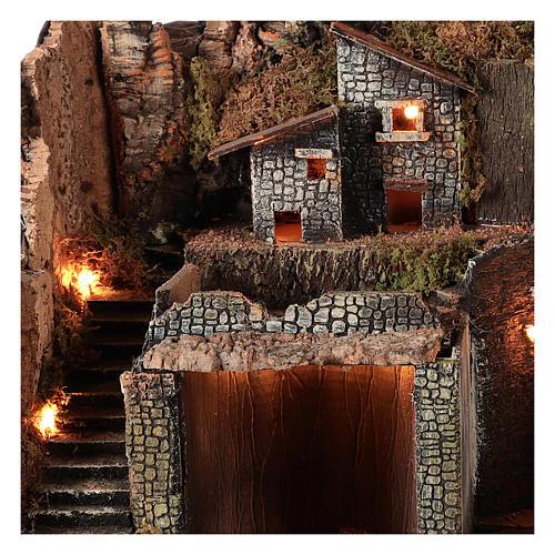 Borgo stile rustico per presepe napoletano di 12-16 cm 3