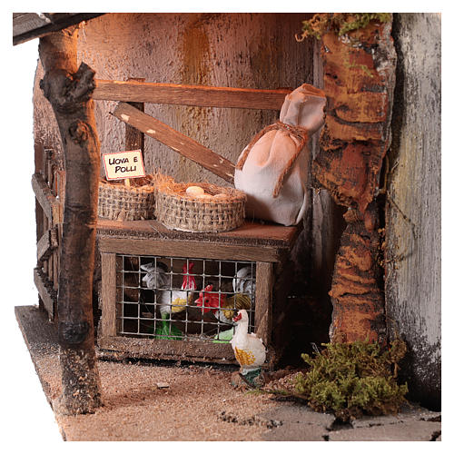 Building with chickens for 10 cm Neapolitan Nativity scene 2