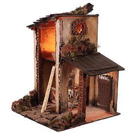 Building with goats for 10 cm Neapolitan Nativity scene s3