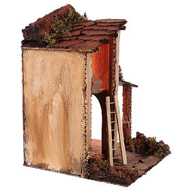 Building with goats for 10 cm Neapolitan Nativity scene s4