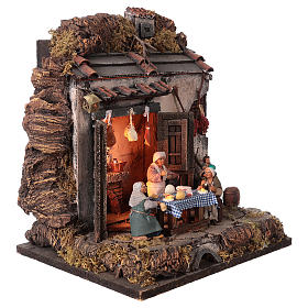 Tavern with 10 cm Nativity scene characters s4