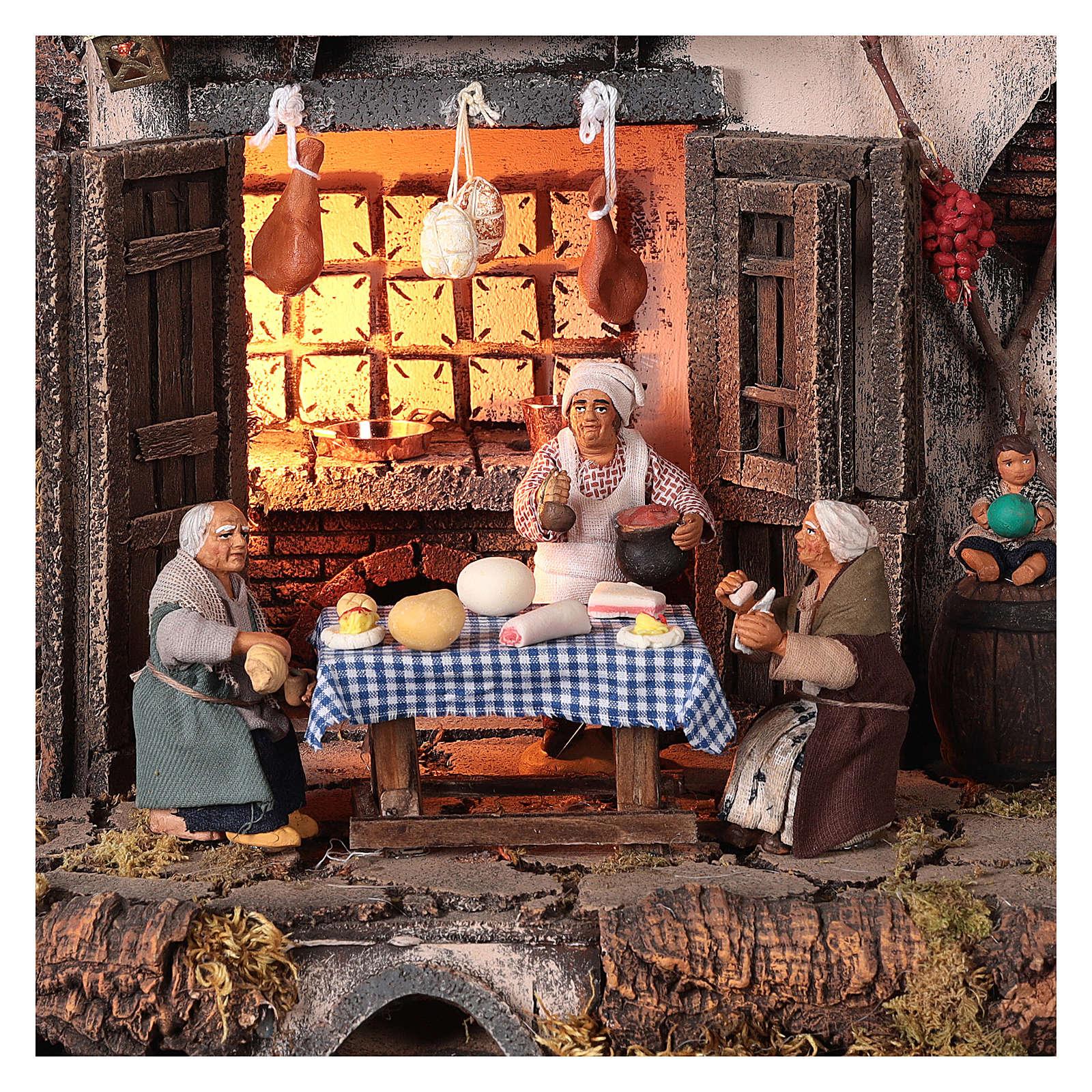 Ambientación posada con personajes belén napolitano 10 cm 4