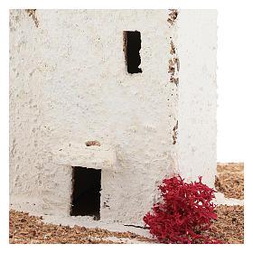 Casa de estilo árabe para presépio napolitano com figuras de 6 cm de altura média s2