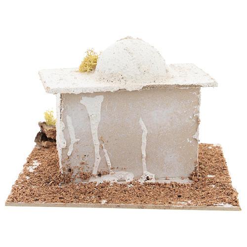 Casetta in stile arabo con cupola per presepe napoletano di 6 cm 4